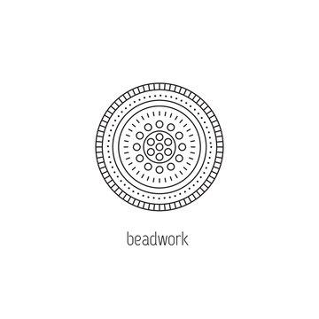 Beadwork line icon