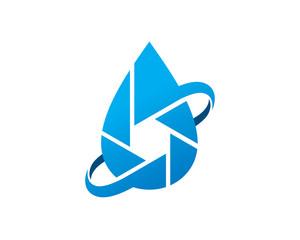 Under Water Photography Logo Template Design Vector, Emblem, Design Concept, Creative Symbol, Icon