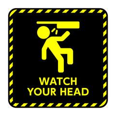 サイン 頭上注意 頭上,注意,頭,ぶつける