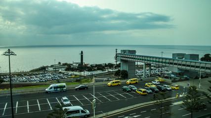 Unterwegs von Funchal zum Madeira Flughafen