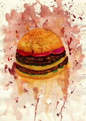 Burger Food Art