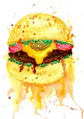 Burger Food Art