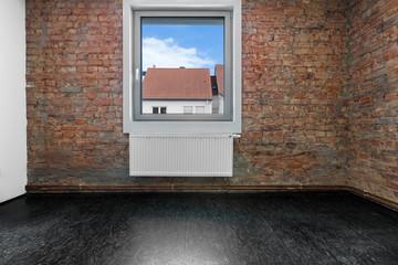 leeres Zimmer Raum mit Fenster