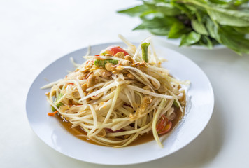 Papaya Salad called SomTum