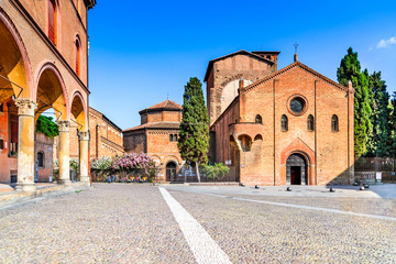 Fotomurales - Bologna, Emilia-Romagna - Italy, Basilica Santo Stefano