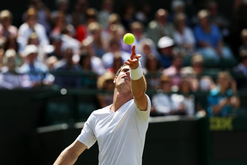 Men's Singles - Great Britain's Andy Murray in action during his second round match