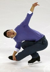 Canada's Chan competes during the Men short program at the ISU Bompard Trophy Figure Skating competition in Bordeaux
