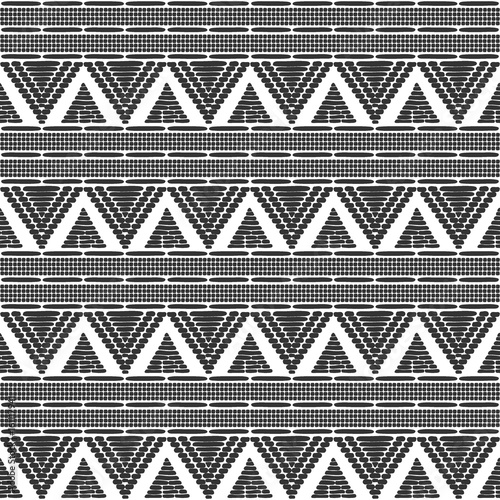 Ethics African Black White Texture Border Background For Fabric