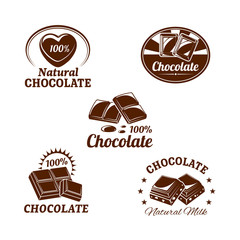 Vector icons set for chocolate desserts