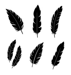 Feather vector icon set