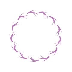rustic branches in the circle design