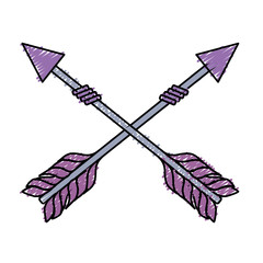 rustic arrows with ornamental design