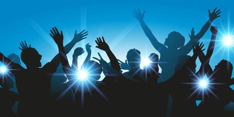 foule - fête - musique - concert - silhouette - festival - évènementiel - boite de nuit