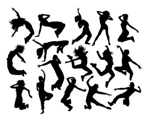 Fun and Cool Breakdance Activity, art vector silhouettes design