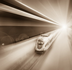 Speed of train traveling