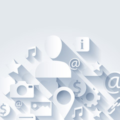 Information symbols seamless pattern background.