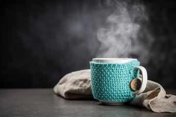Photo sur Plexiglas Cafe Cup of hot coffee