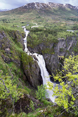 Voringsfossen, the 83rd highest waterfall in Norway on the basis of total fall. It is perhaps the most famous waterfall in the country and a major tourist attraction.