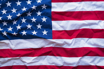 United States of America flag, close up