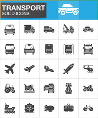 vector icons set, modern solid symbol collection, filled style pictogram pack. Signs, logo illustration. Set includes icons as