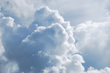 Beautiful fluffy cloud in the sky