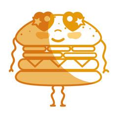 silhouette kawaii cute tender humburger food
