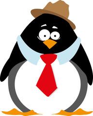 Red bow tie penguin