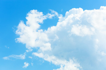 Beautiful cloud in the blue sky. Background.
