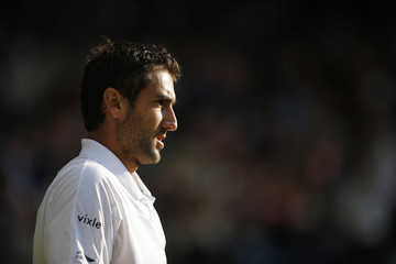 Men's Singles - Croatia's Marin Cilic during his quarter final match