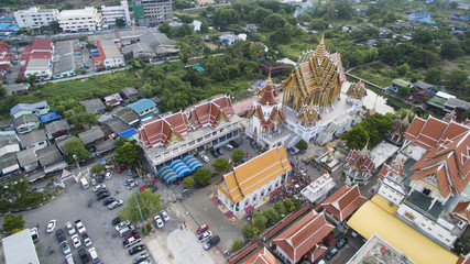 High angle view of temple in Thailand