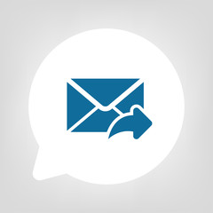Kreis Sprechblase - E-Mail Antwort
