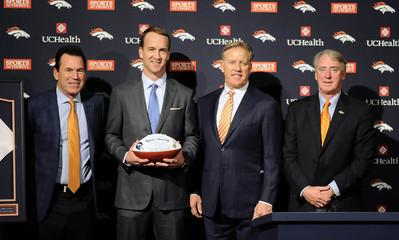 NFL: Denver Broncos-Peyton Manning Press Conference