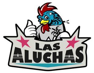 Logotipo Pollo Gallo Luchador Alitas Aluchas