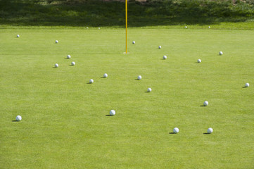 Putting Green Full of Golf Balls
