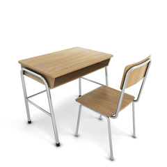 School desk with chair