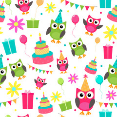 owl invitations cute celebration cards pattern