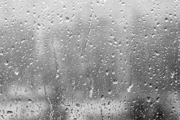 Rain drops on window. The beautiful background.