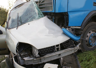 car crash, road closed