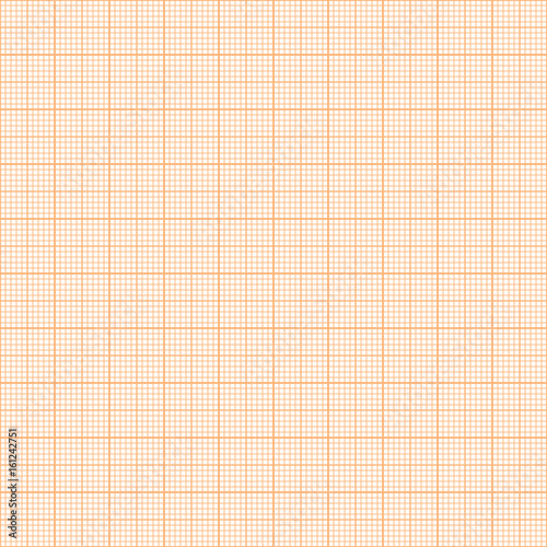 Vector orange metric graph paper seamless pattern