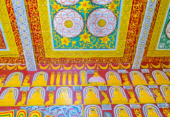 The patterns in Buddhist Temple