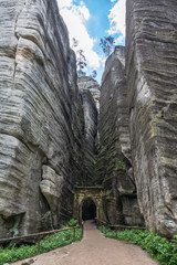 Stone gate in National Park in Adrspach - Teplice rocks