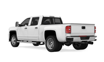 White Pickup Truck Isolated