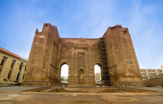 Arg of Tabriz, is the remnants of a big unfinished 14th-century mausoleum and a 19th-century military castle and barrack in city center of Tabriz, Iran.