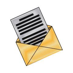 email envelope message communication web icon vector illustration