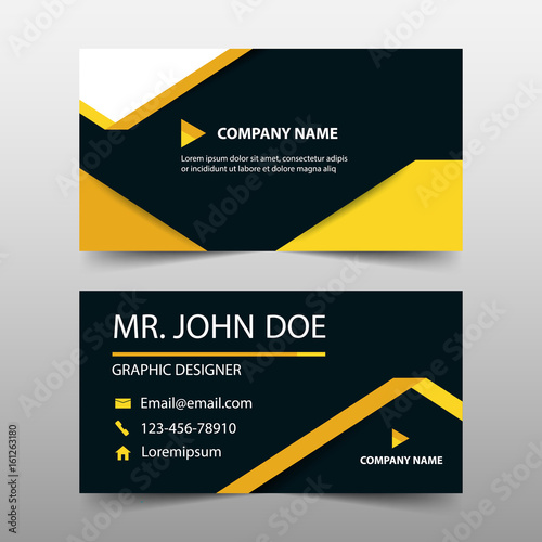 Yellow label corporate business card name card template horizontal yellow label corporate business card name card template horizontal simple clean layout design template wajeb Gallery