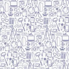 Blog Object Seamless Pattern