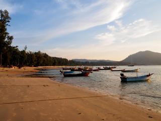 Moored fishing boats at Phuket, Thailand