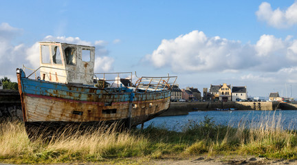 Abandoned boat in Le Fret, Brittany, France