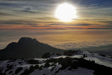 Sunrise on Kilimanjaro