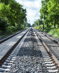 Bahngleise, Bahnverkehr in Schleswig-Holstein, Deutschland